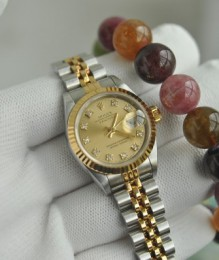 Đồng hồ Rolex 69173 Lady Datejust Diamond Gold Dial 18K