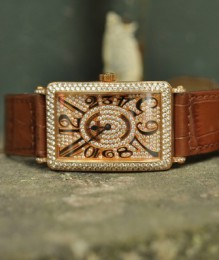 Đồng hồ Franck Muller LongIsland 1000Sc Rose Gold Custom Full Diamond