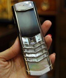Điện thoại Vertu Signature S White Alligator Diamond Mother Of Pearl