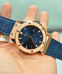 Đồng hồ Hublot Classic Fusion Blue King Gold New 100%