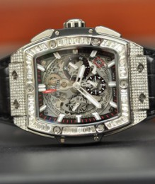 Đồng hồ Hublot Spirit Of Big Bang Chronograph Titanium Pave Diamond New 100%