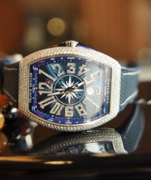 Đồng hồ Franck Muller Yachting V41 Custom Diamond Navy ,New 100%