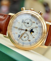 Đồng hồ Waldan International Chronometre Moonphase Chronograph size 39mm